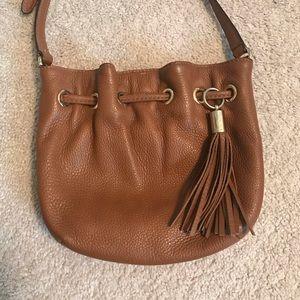Michael Kors Brown Leather bucket crossbody bag